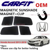 CARFIT OEM Magnetic Custom Fit Sunshade For Honda Accord Yr 2013-2018 (4pcs Sets)